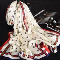 真丝丝巾重磅桑蚕丝春秋百搭韩版围巾女冬季披肩两用长款杭州丝绸
