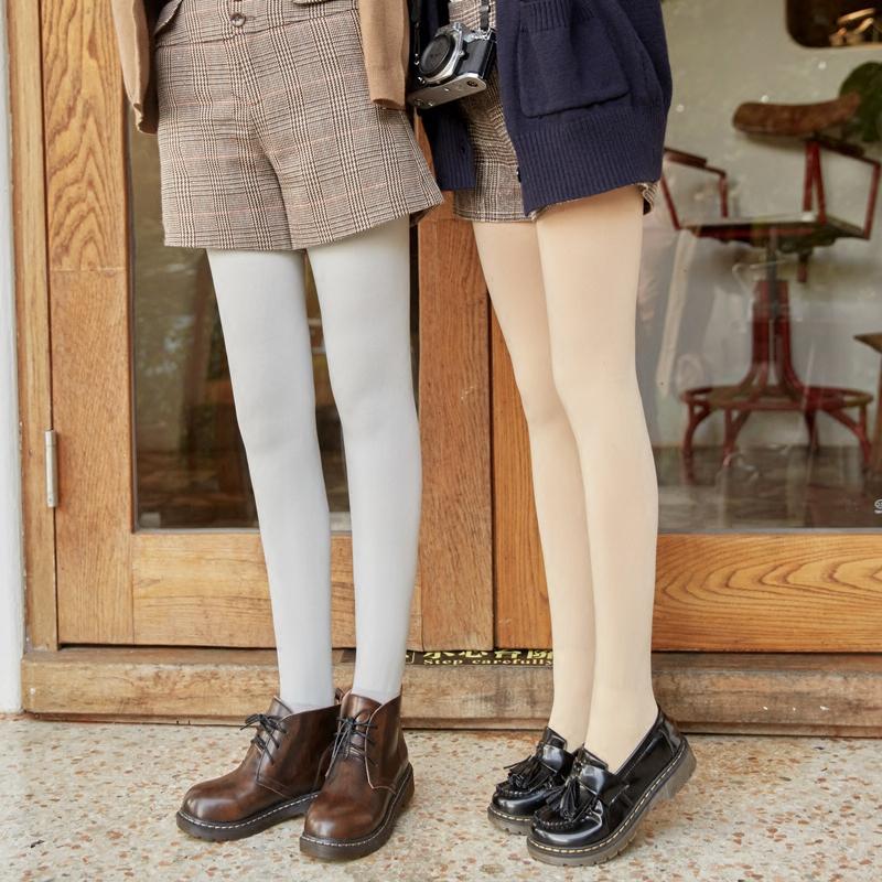 2条春秋季中厚天鹅绒连裤袜秋冬灰丝袜女防勾丝肉色打底袜裤袜薄