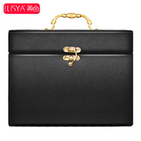 ILISYA彩妆化妆箱 手提式化妆箱 美容箱彩妆工具黑色粉色正品包邮